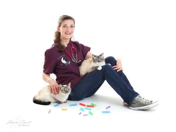 Blouse medicale interview une vétérinaire